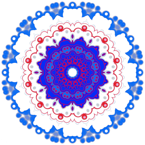 mandala patriotic ornament