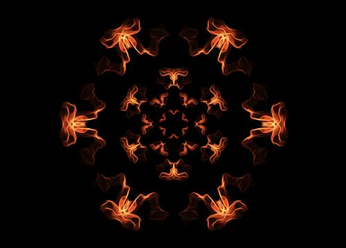 mandala fire mandala flames