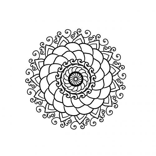 mandala coloring page coloring for adults