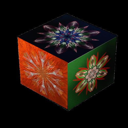 mandala cube square