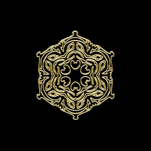 mandala floral pattern gold