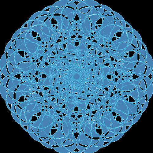 mandala blue doily blue lace