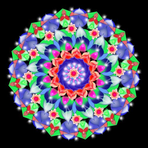 Mandala With Flowers