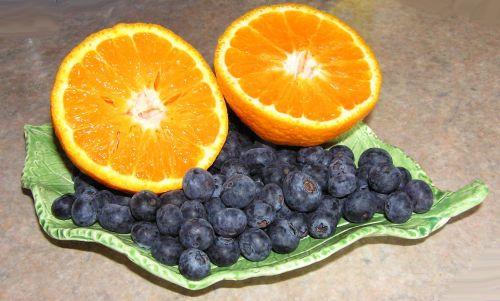 mandarin blueberries fruit