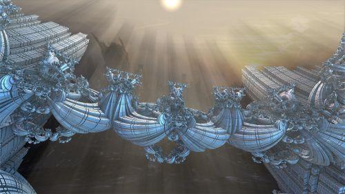 mandelbulb fractal sci-fi