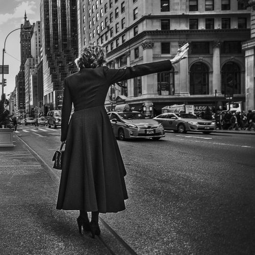 manhattan street lady