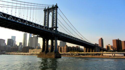 manhattan bridge new york city suspension bridge