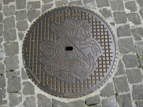 manhole cover channel lid