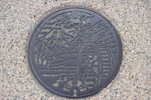 manhole cover pattern simple