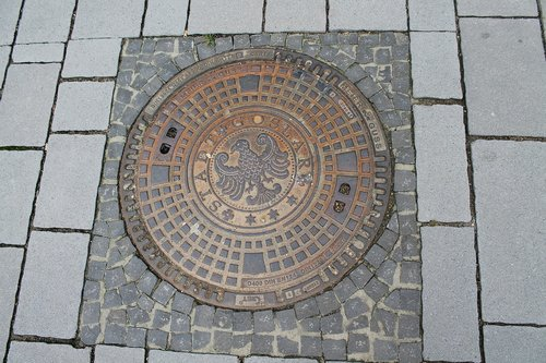 manhole cover  road  goslar