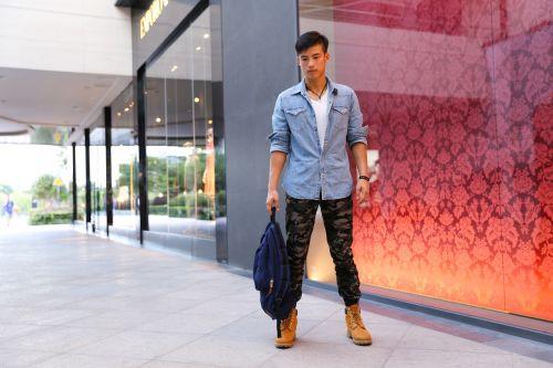 manhunt handbag handsome