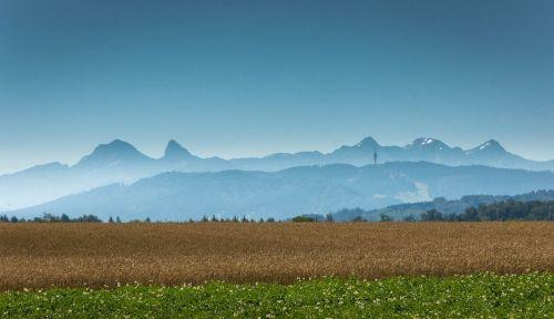 mannens plain switzerland mountains