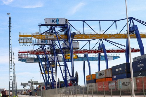 mannheim port  crane  port