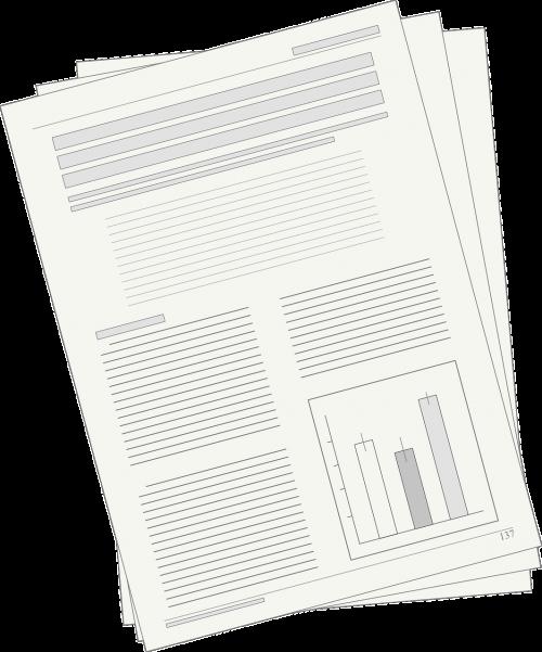 manuscript newspaper article