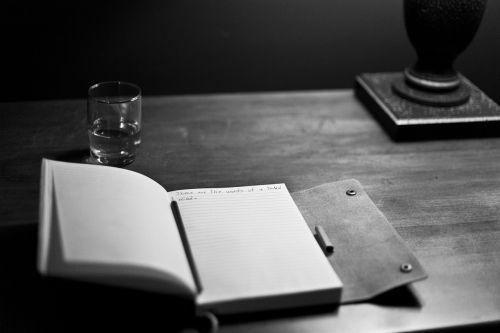 manuscript writing notepad