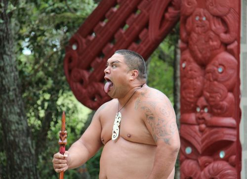 maori man making a face