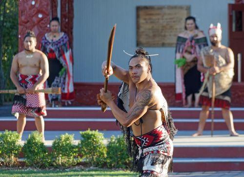 maori painted warrior