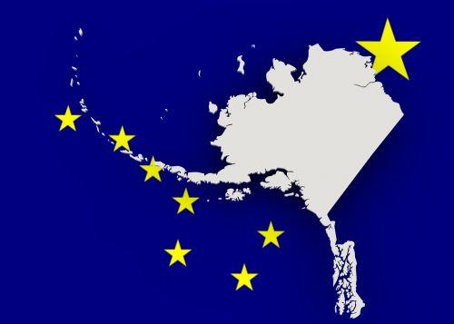 map alaska flag