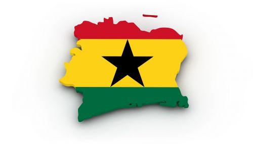 map ghana flag