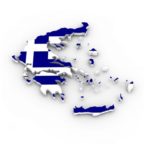 map greece flag