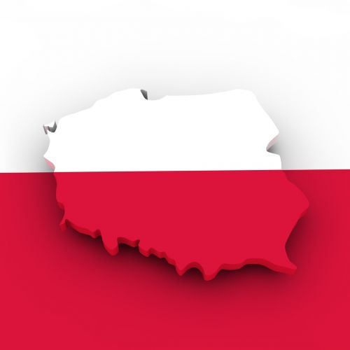 map poland flag
