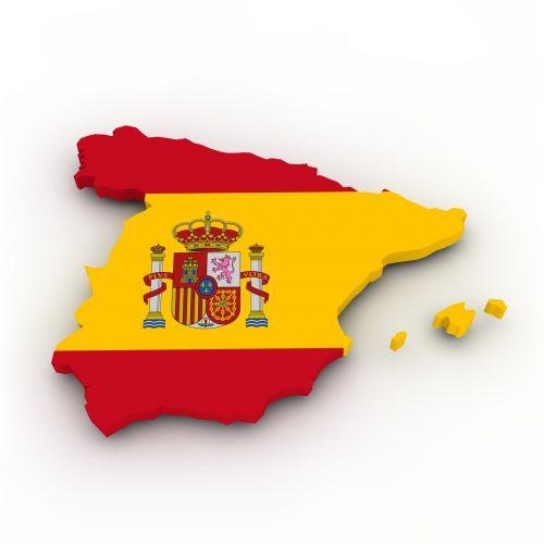 map spain flag