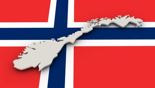 map norway flag