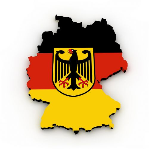 map germany flag