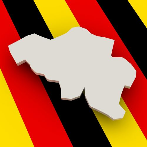 map belgium flag