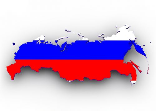 map russia flag