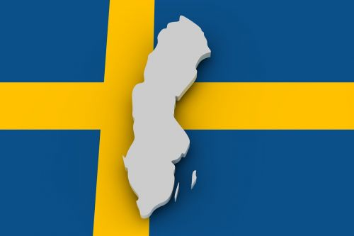 map sweden flag
