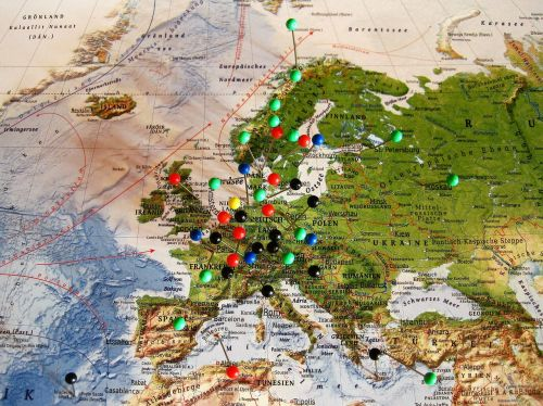experienced travel destinations map of europe map