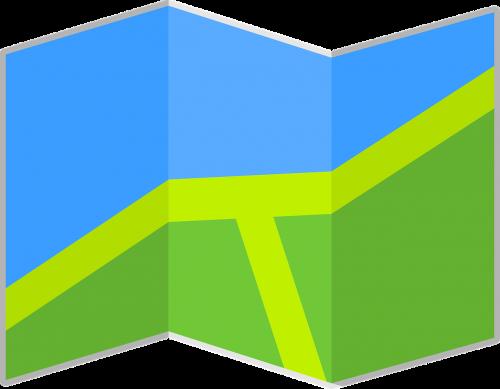 map isometric design