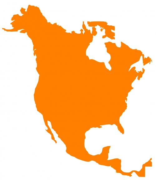 map north america continent
