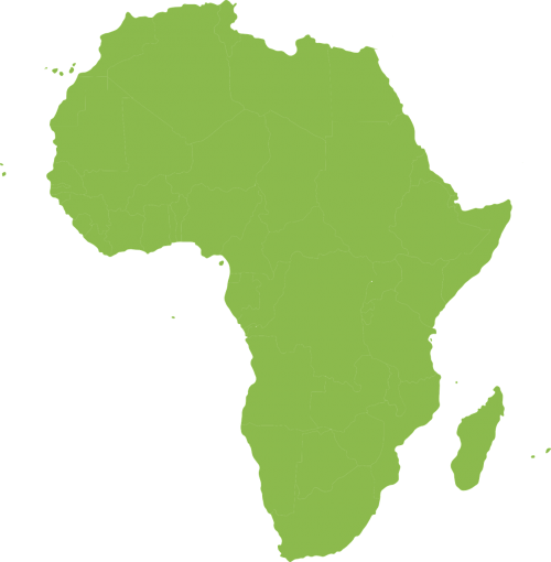 map africa continent