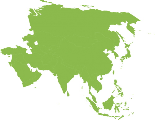 map asia continent