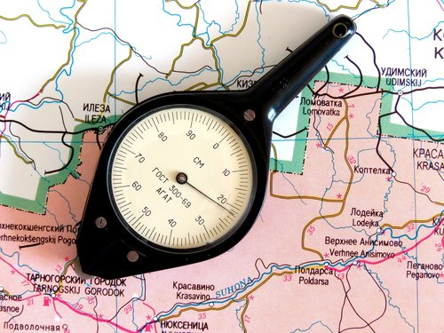 map  odometer  the distance