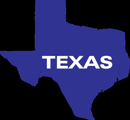 map shaded texas