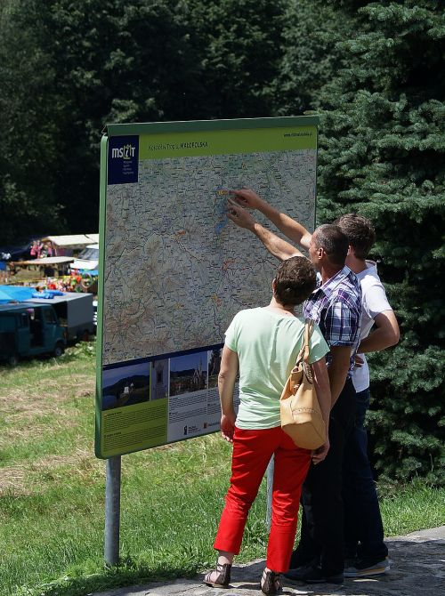 map information information board