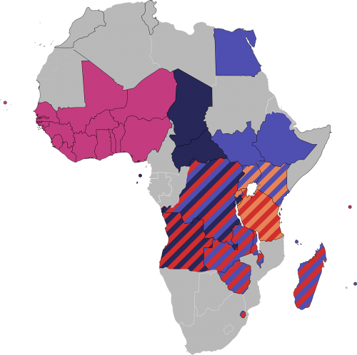 map africa political