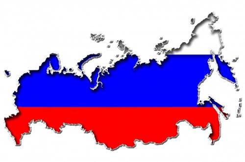 Map Of Russia In Russian Flag