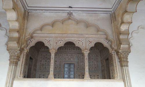 marble canopy jharokha emperor's dais