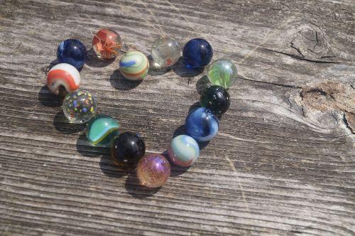 marbles glaskugeln heart