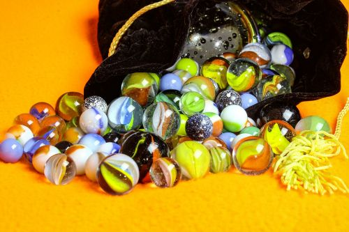 marbles desktop bag of marbles