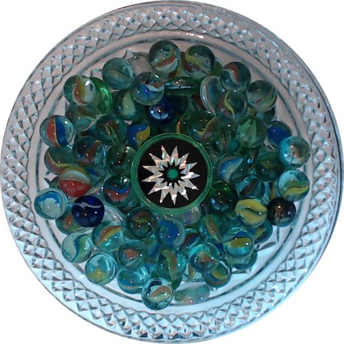 Marbles In A Crystal Vase