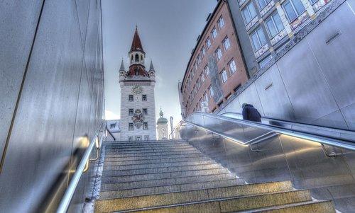 marienplatz  munich  town hall