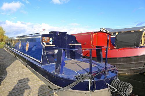 marina long boat canal boat