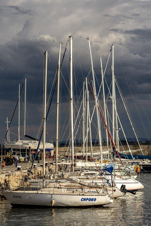 marina  port  yachts