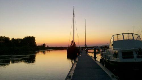 marina sunset sailing