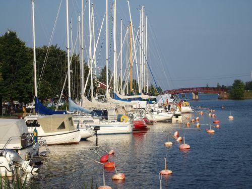 marina stern buoys sailing ships